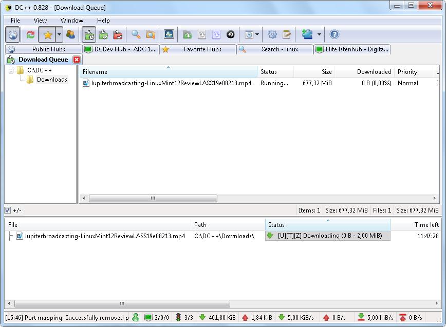 DC++ screenshot